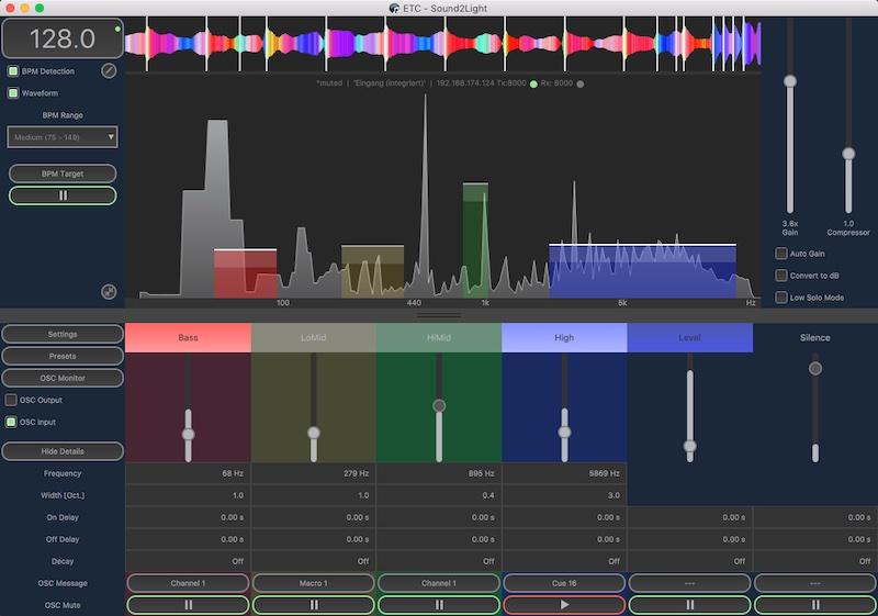 实时音频信号转换为OSC触发事件
