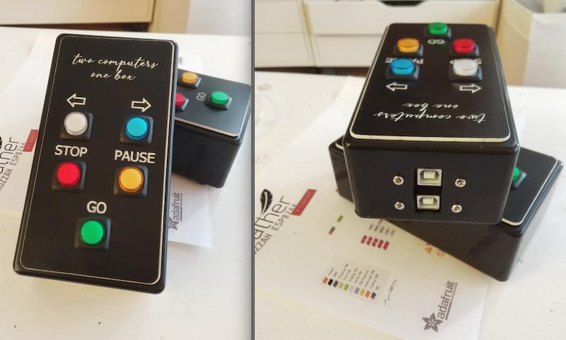 DIY制作Qlab button 双机同步控制器