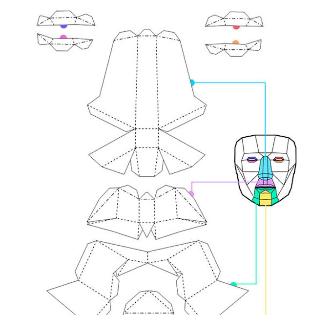 光雕投影/映射投影 3D面具工程文件